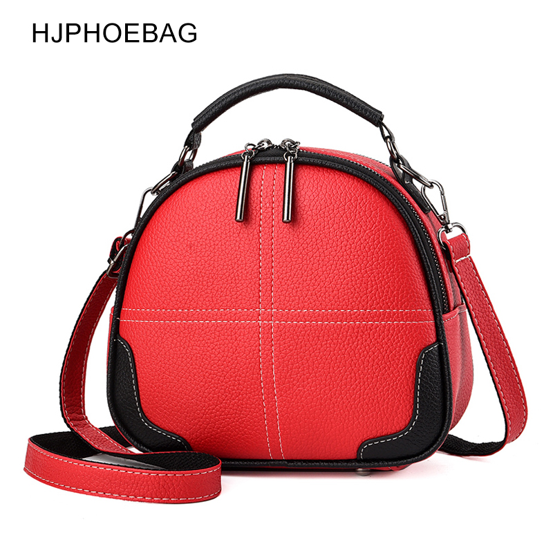 Moda de Alta Couro do Plutônio Hjphoebag Qualidade Sólida Bolsa Feminina Senhoras Crossbody Mensageiro Bolsas Ombro Vintage Yc351