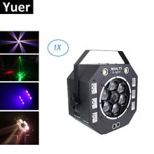 Işın Strobe lazer UV 4IN1 DMX512 sahne efekti ışıkları LED UV ışık kontrol Dj DMX 512 noel süslemeleri ev için halloweens