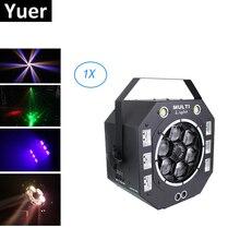 Wiązki stroboskopowe laserowe UV 4IN1 DMX512 efekt sceniczny światła światło ledowe UV kontroli Dj DMX 512 dekoracje na boże narodzenie dla domu halloweens
