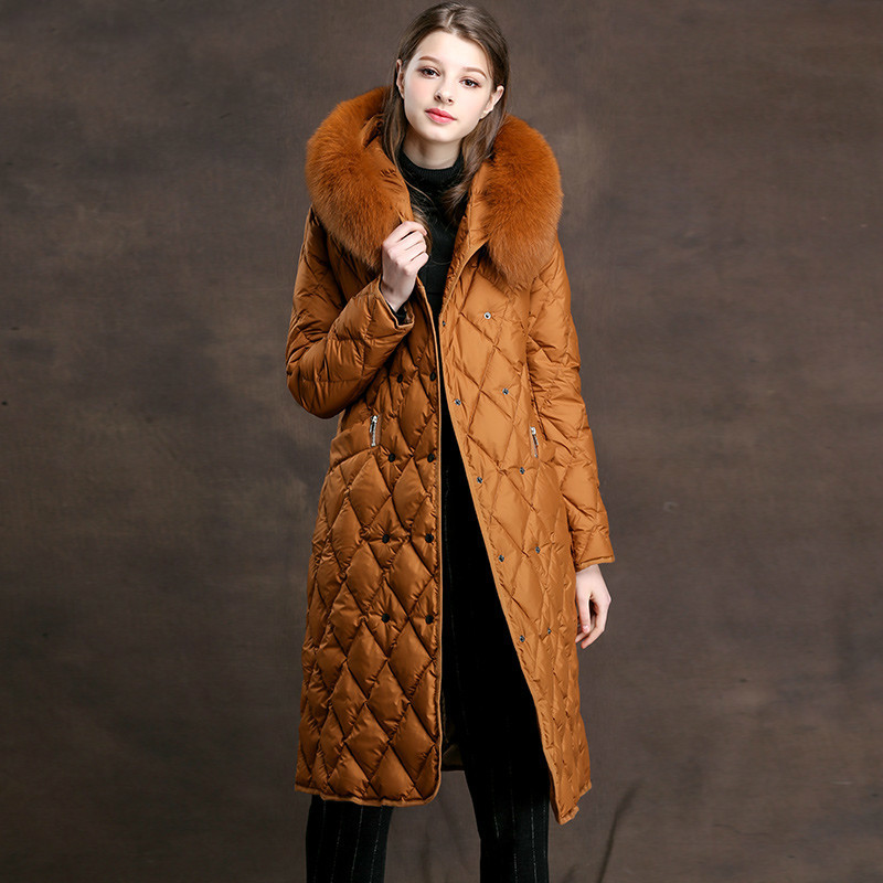 Women's Down Jacket Autumn Winter Coat Women Clothes 2020 Fox Fur Collar Female Jacket Korean Vintage Parka Tops ZT3686