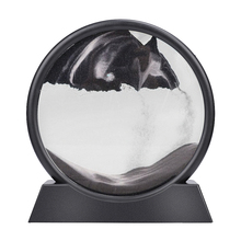 Moving Sand Art Picture Round Glass 3D Deep Sea Sandscape In Motion Display Flowing Sand Frame Kids Gifts(7inch)