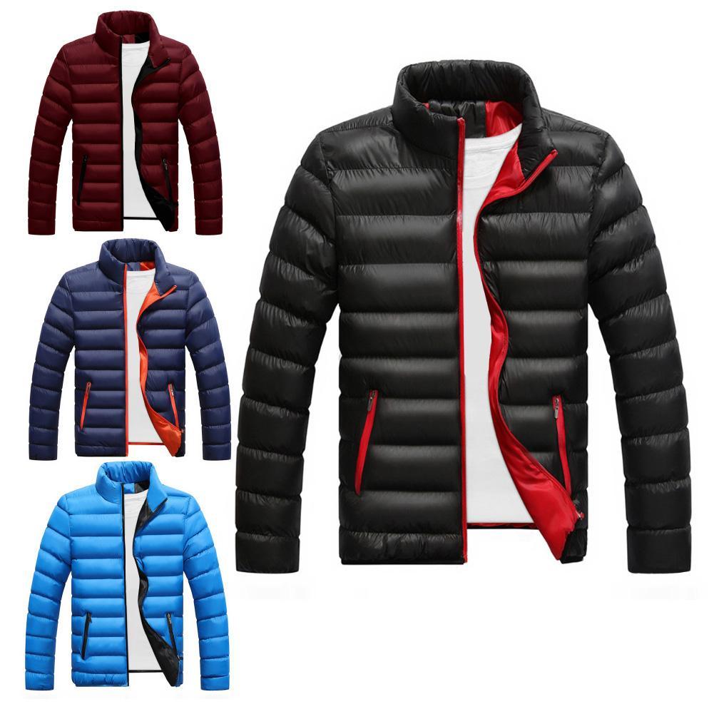 Parka Jacket Men Coat Winter Warm 4XL Stand-Collar Plus-Size Casual Mens Thick Autumn