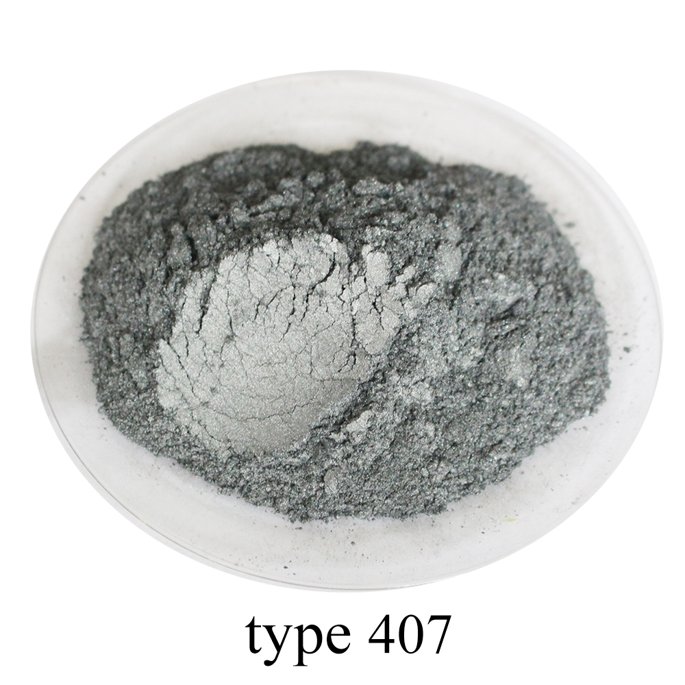 #407 Silver Grey Pearl Powder Pigment Acrylic Paint For Craft Art Automotive Paint Soap Dye Colorant 50g Mica Powder Pigment