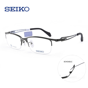 SEIKO титановая оправа для очков мужские полуоправы Мультифокальные очки при близорукости астигматизм мужские Оптические очки оправы HZ3602