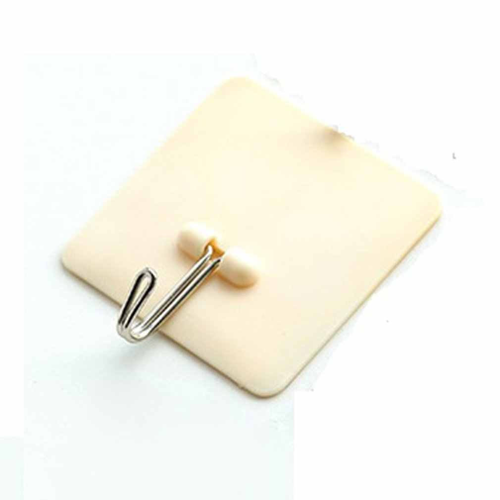 Sticker Adhesive Hook Plastic Hook Wall Door Clothes Coat Hat Hanger Rustproof Towel Hook For Kitchen Bathroom