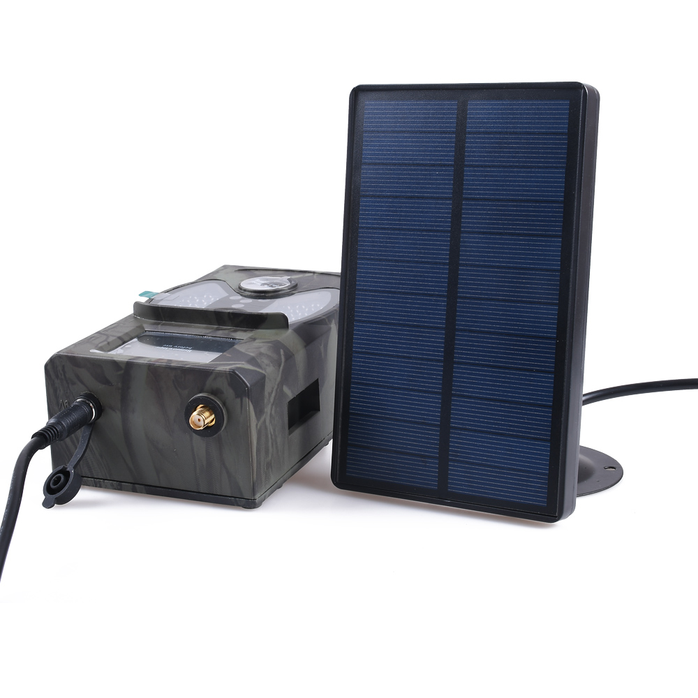 Outdoor Solar Panel Charger Hunting Trail Camera Battery Charger 9V Output For <font><b>Suntek</b></font> HC-300M HC-700M <font><b>HC700G</b></font> Hunting Cameras image