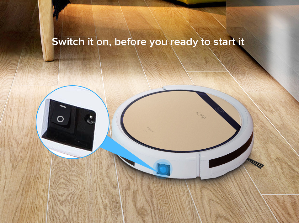 Ha5c6b84a1e94427dba04bca02ddadeb3s ILIFE V5sPro Robot Vacuum Cleaner vacuum Wet Mopping Pet hair and Hard Floor automatic Powerful Suction Ultra Thin disinfection