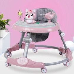 Bebê walker multi-função rollover menino bebê menina pequena criança starter aprender a dirigir