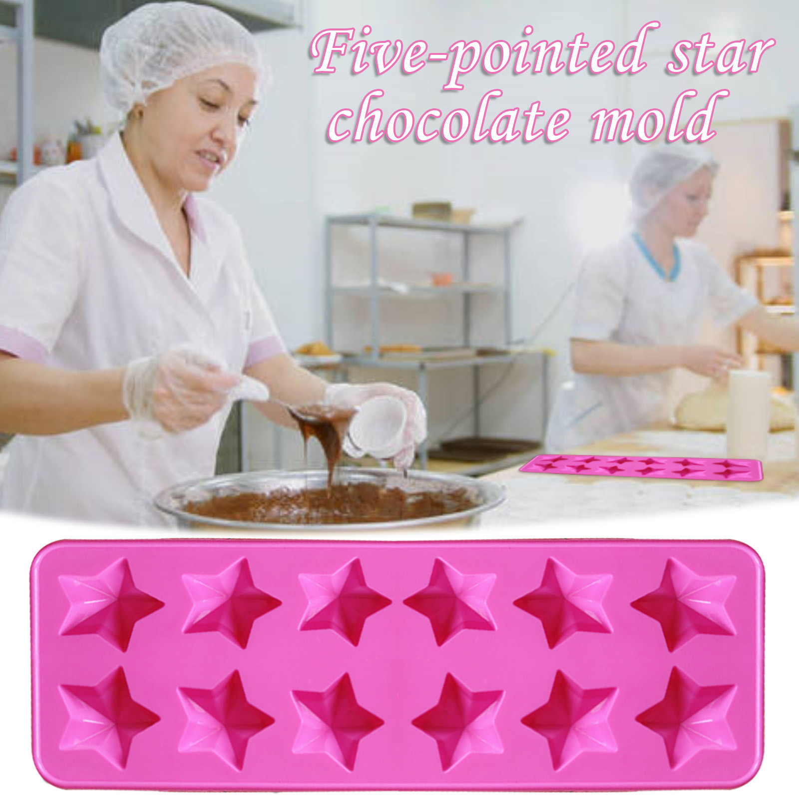 3D Silicone DIY Heart Form Chocolate Mold Cake Decorating Heart Shape Mould