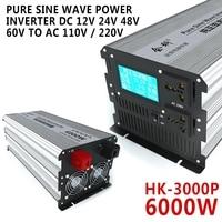 Electrical Equipment HK 3000P 6000W Pure Sine Wave Power Inverter DC 12V 24V 48V 60V 72V to AC 110V / 220V Inverters Converters