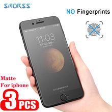 SMORSS 3pcs Matte Tempered Glass For iphone 6 6s 7 8 screen protection Frosted Protector for plus Film 2pc