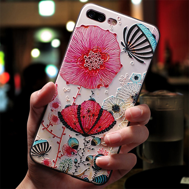 3D Emboss Flower Cover For Xiaomi Redmi Note 8 7 6 9 Pro 9S 5 7A 8A Mi A3 8 9 SE Note 10 Lite A1 5X A2 CC9 CC9e 9T Pro TPU Case 4