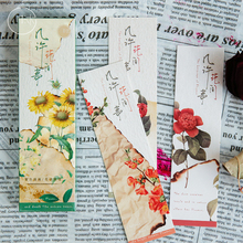 30Pcs/pack Cute Flower Vintage Plant Paper for Book Reading Maker Page Paper Bookmarks sitemap 2 xml page 2 page 2 page 9 page 10