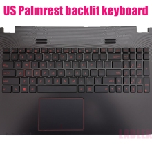 Backlit Keyboard GL552VW/GL552VX Us-Palmrest Asus for with Trackpad