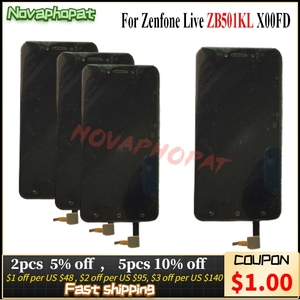 Image 1 - Novaphopat Nero/Bianco/Oro A CRISTALLI LIQUIDI Per Asus ZenFone Live ZB501KL X00FD Display LCD Touch Screen Digitizer Assemblea Completa di ricambio