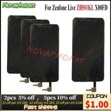 Novaphopat Schwarz/Weiß/Gold LCD Für Asus ZenFone Live ZB501KL X00FD LCD Display Touchscreen Digitizer Vollversammlung ersatz