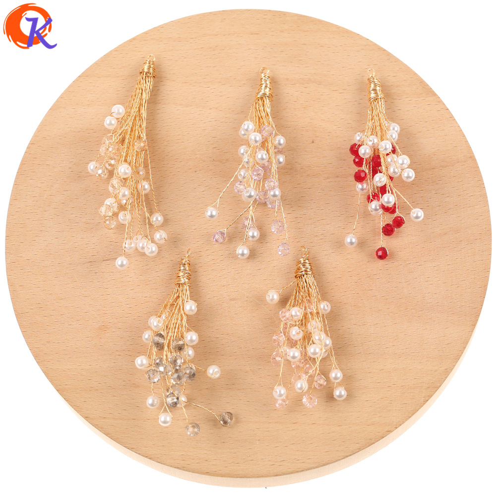 Cordial Design 20Pcs 26*60MM Jewelry Accessories/Hand Made/Crystal Charms/DIY Making/Imitation Pearl Pendant/Earring Findings