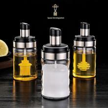 цена на Barbecue Glass Olive Oil Spray Oil Sprayer Dispenser Honey Salt Spice Bottle with Brush/ Lid Seasoning Jar BBQ Kitchen Tools