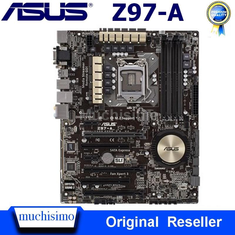 Asus Z97-A Motherboard LGA 1150 DDR3 Intel Z97 Core i7 i5 i3 PCI-E 3,0 M.2 SATA III Desktop Orginal Asus z97-A Mainboard Verwendet