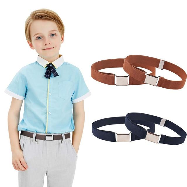 9 estilos de cinturones magnéticos para niños pequeños para niños niñas, cinturón elástico ajustable magnético con hebilla magnética para niños
