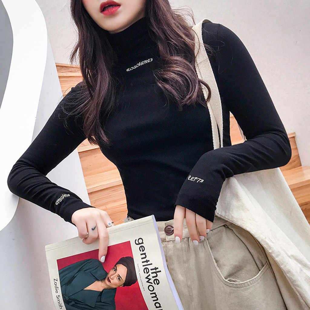 גולף סוודר נשים בסוודרים גבוהה גמישות סרוג מצולעים Slim מגשרי סתיו slim מוצק סרוג סוודרים mujer למשוך