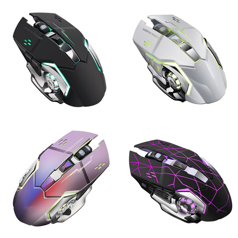 2.4G USB Wireless Mouse Silent LED Backlit Gaming Mice Adjustable DPI Mechanical Mouse