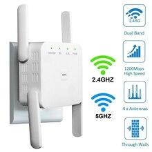 WiFi Range Extender Signal Booster Wireless WiFi Repeater Amplifier 1200Mbps 2.4 & 5G GHz Wi Fi Wifi Extender With 4 Antennas wireless wifi repeater router dual band wireless wi fi range extender wifi signal amplifier booster with external antennas wps