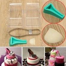 Sapato de salto alto kit silicone fondant molde de bolo de decoração molde molde de bolo de casamento decoração diy kit
