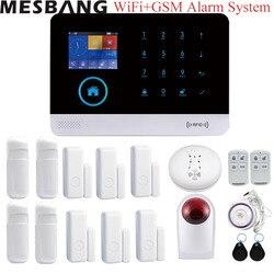 Thuis wifi GSM alarmsysteem kits draadloze beveiliging alarm Inbreker systeem APP controle met infrarood deur roken sensoren dectetor