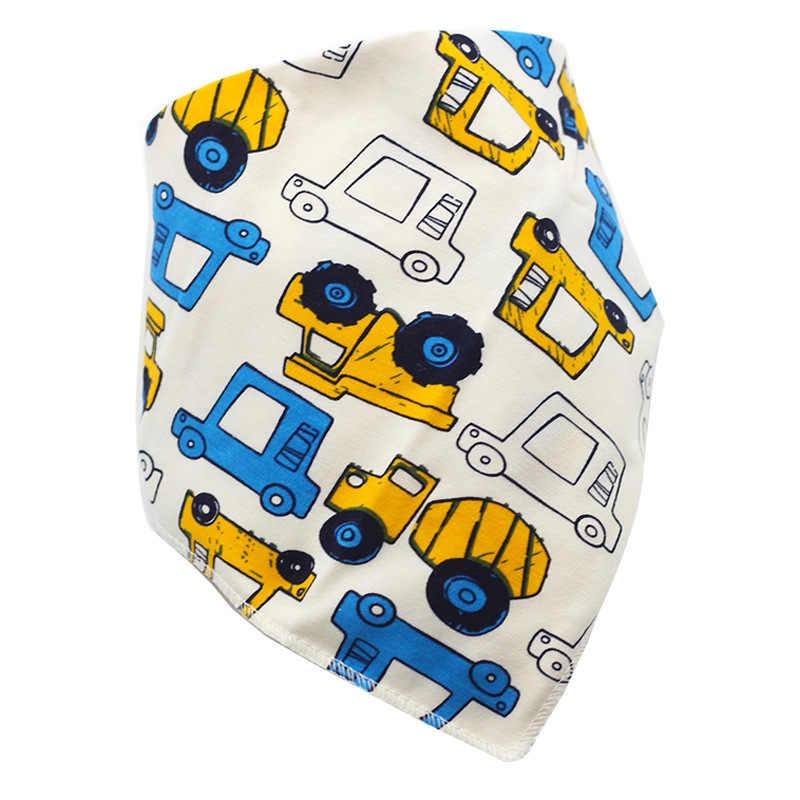 Baberos impermeables triangulares de algodón de dibujos animados para niños Baberos Dribble Baberos recién nacidos tela absorbente Slabber