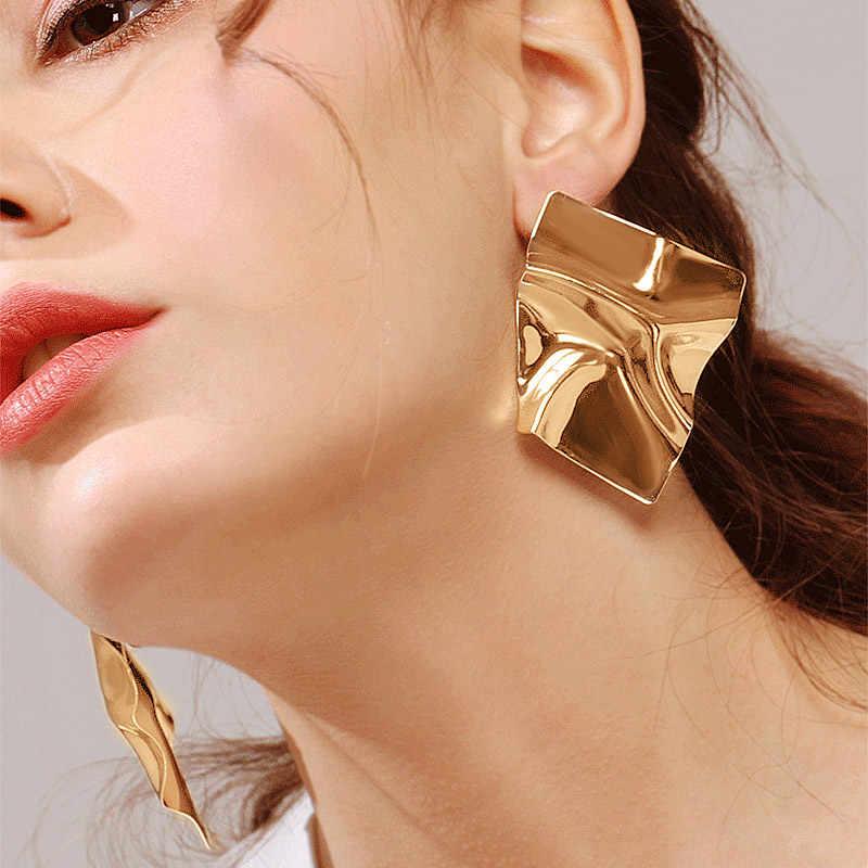 BICUX ファッション女性のための声明ビッグ幾何学的な金属イヤリング女性の吊りイヤリング 2019 現代ジュエリー