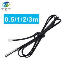 W1209 50 см 1 м 2 м 3 м NTC термистор датчик температуры водонепроницаемый зонд провод 10 к 1% 3950 W1209 W1401 кабель