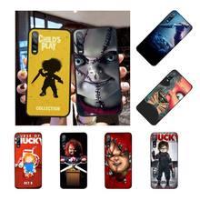 цена на NBDRUICAI HORROR CURSE OF CHUCKY CHILD'S PLAY Cover Black Soft Shell Phone Case for Huawei P30 P20 P10 P9 P8 Mate 20 10 Pro Lite