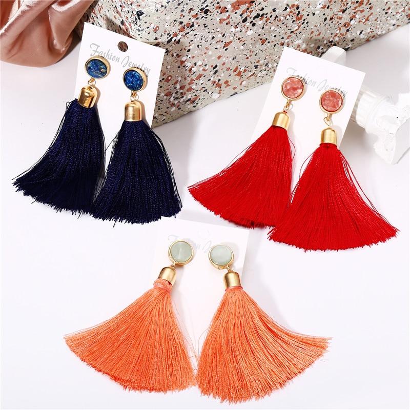 Blue Fashion Vintage Long Pendentif Goutte Dangle Femmes mariage fête Boucles d/'oreilles cadeau