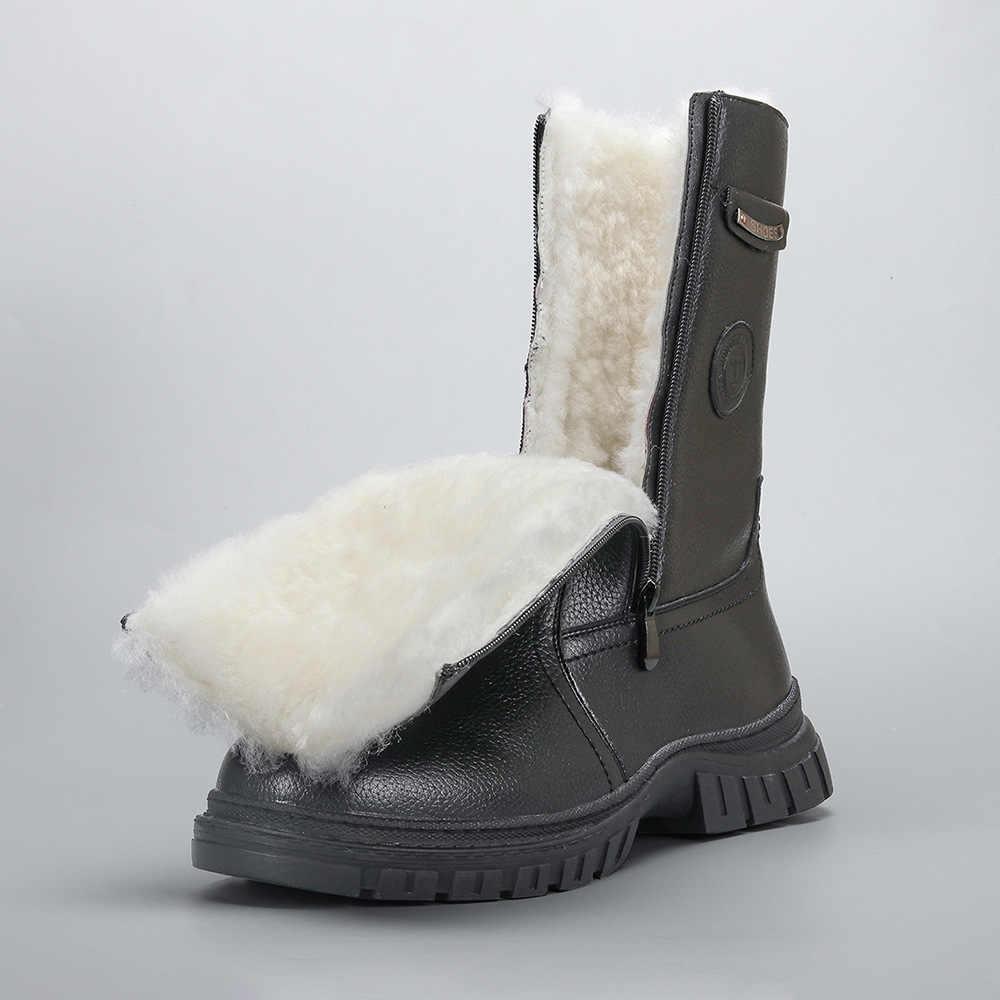 2020 Nowe Naturalne Welniane Meskie Zimowe Buty Najcieplejsze Meskie Buty Skorzane Recznie Meskie Zimowe Sniegowe Buty Zimowe Utrzymuj Dluga Ciepla Buty Sniezne Aliexpress