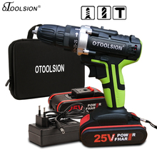 25V Electric Tools Impact Drill Impact Electric Screwdriver Impact Cordless Drill Electric Drill Battery Screwdriver 25+3 Torque