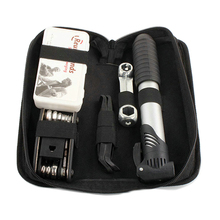 Bicycle Tool Bag Multi-function Folding Tire Repair Kits Multifunctional Kit Set With Pouch Pump for Bike