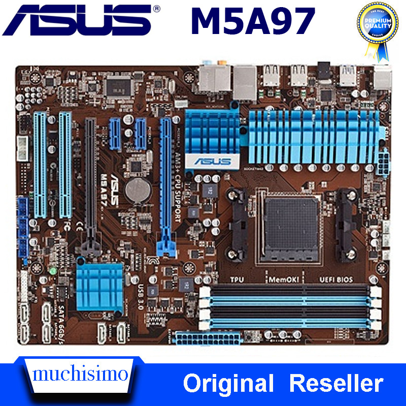 ASUS M5A97 Motherboard Socket AM3+ DDR3 32GB AMD 970 AMD FX Original Desktop Mainboard M5A97 PCI-E 2.0 SATA III Used Mainboard