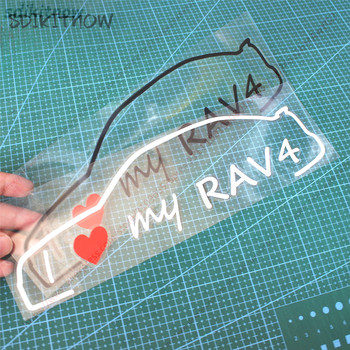 I love my car Decal Creative Sticker Styling Door Window Decoration For TOYOTA RAV4 2008 2013 2017 2018 accessories image