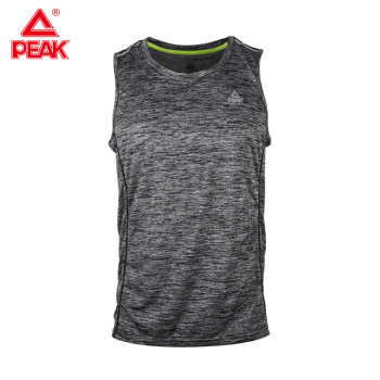 PEAK Running Vest Men Fitness Muscle Sleeveless Sport T-shirts Summer GYM Sport Tank Tops Bodybuilding Vest Cotton 1