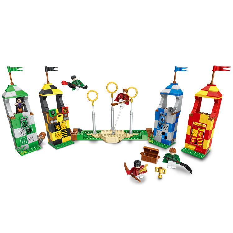 Image 3 - 39147 536pcs Figures 75956 Brick Toys for Children Harri Potter Magic Quidditchs Match Model Compatible with Legoings 11004-in Blocks from Toys & Hobbies