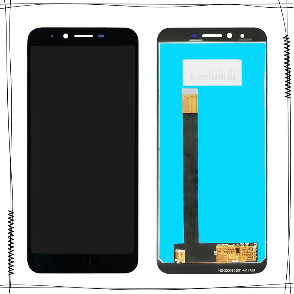 5.5''Black For Homtom S99 LCD Display+Touch Screen Digitizer Assembly For Homtom S99 Accessory Sensor Replacement Parts(China)