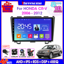 Android 10,0 4G + WiFi Auto Radio Für Honda CRV 2006-2012 Audio 4G + 64G GPS Navigation 2Din Split Screen Multimedia Player Kopf Einheit