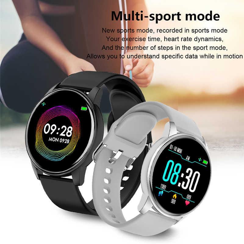 LIGE akıllı saat erkekler kadınlar kalp hızı tracker kan basıncı fonksiyonlu spor izci bilgi hatırlatma iPhone Android için