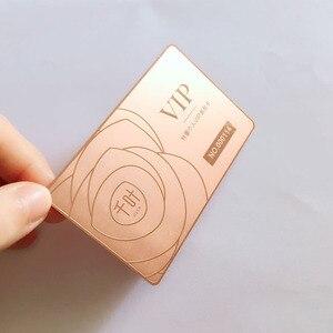 Image 4 - Edelstahl metall karte Anpassen druck 200 teile/los loch gestanzt laser cut mitgliedschaft karte kostenloser versand