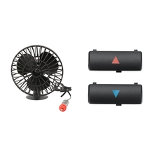 1set 12V Truck Fan Vehicle Auto Cooling Cigarette Lighter & 2Pcs A / C Temperature Control Panel Switch Button Key Cover