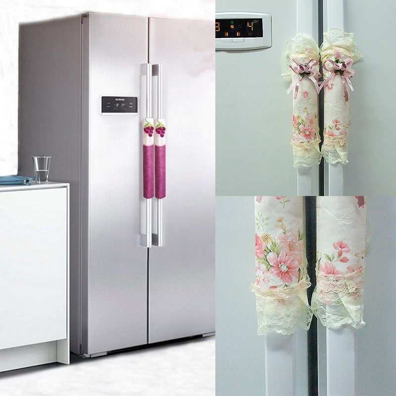 Refrigerator Door Handle Covers For Shift Lever Fridge Doorknob Keep Your Kitchen Appliance Clean From Smudges Decor For Kitchen