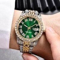 Hip Hop Aaa Diamanten Horloge Mannen Luxe Merk Heren Gouden Horloge Analoge Quartz Movt Unieke Mannen Iced Out Horloge Man relogio Masculino