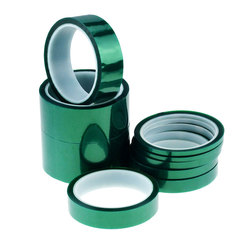 33M Green PET Tape 5mm 10mm Heat-resistant PET High Temperature Shielding Tape for PCB Solder Plating Insulation Protection