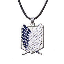 Hot Anime Shingeki No Kyojin Necklace Attack on Titan Necklace Wings of Liberty Pendants Necklaces Cosplay Jewelry Collares